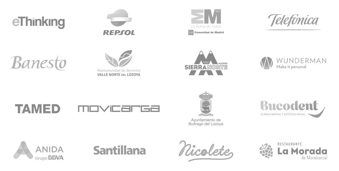 Logotipos clientes de Cortázar Comunicación